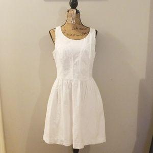 Lilly Pulitzer white seersucker dress size 14